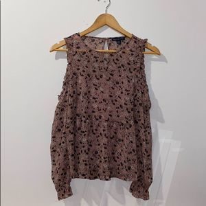 American Eagle Outfitters Cold Shoulder Shirt S